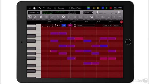 Editing MIDI with the Piano Roll Editor: Up and Running with Auria Pro