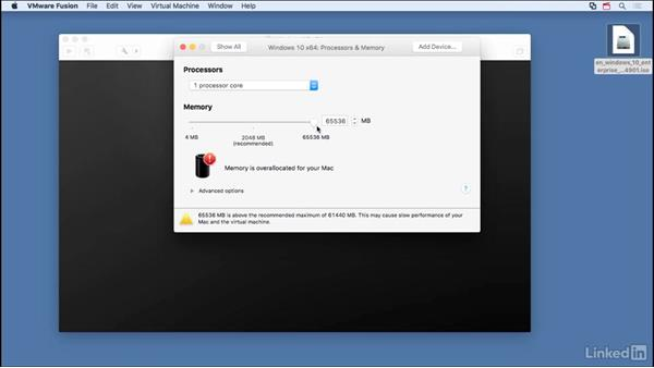 Set up Windows 10 as guest: Learn VMware Fusion 8: The Basics