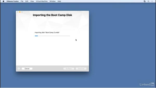 Set up Boot Camp as guest: Learn VMware Fusion 8: The Basics