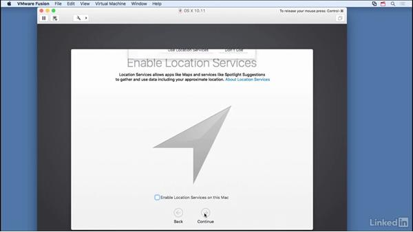 Set up OS X as guest: Learn VMware Fusion 8: The Basics