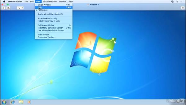Window controls and Unity mode: Learn VMware Fusion 8: The Basics