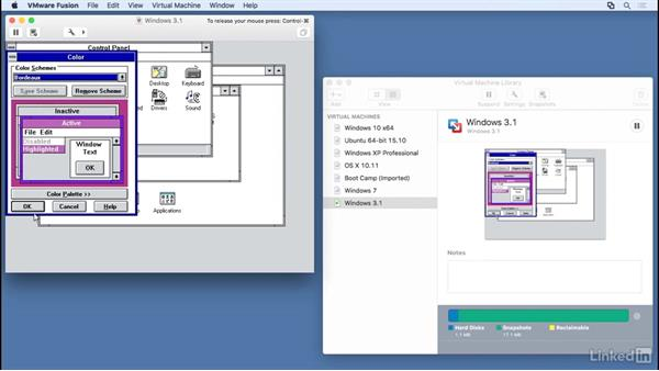 Manage virtual machine snapshots: Learn VMware Fusion 8: The Basics