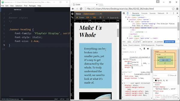 Work on one module at a time: Responsive Web Design in the Browser