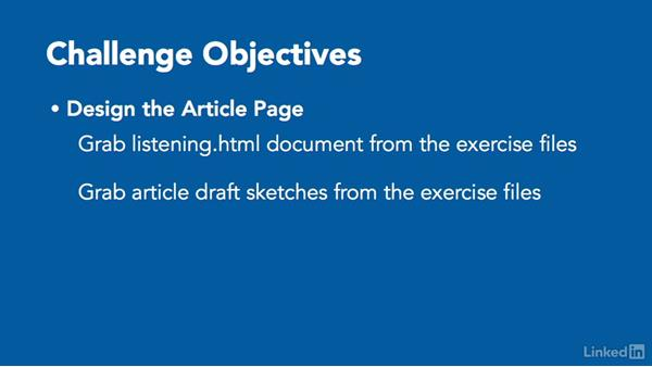 ✓ Challenge: Design the article page in the browser: Responsive Web Design in the Browser