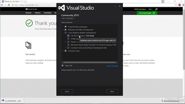 Setting up Visual Studio on a Windows PC: Xamarin Essential Training