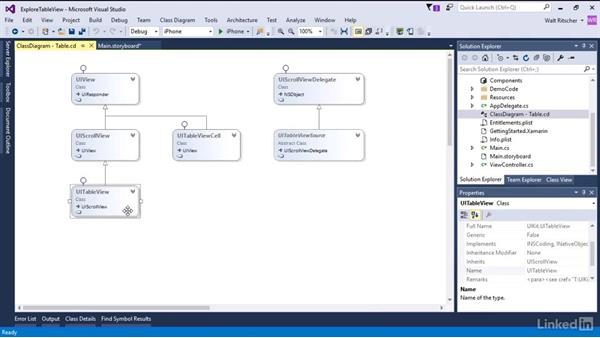 Explore the TableView control: Xamarin Essential Training