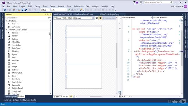 Create the basic grid layout: Xamarin Essential Training