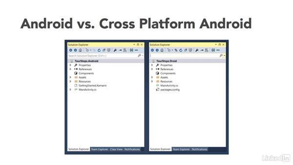 Elements of the Xamarin cross-platform app: Xamarin Essential Training