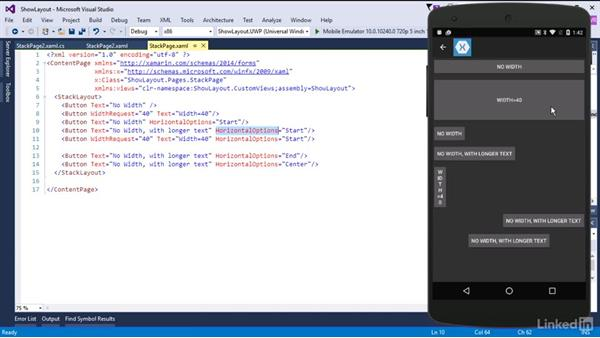 Work with the StackLayout: Xamarin Essential Training