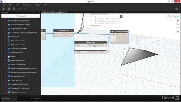 Analyzing surfaces and curves: Dynamo Essential Training