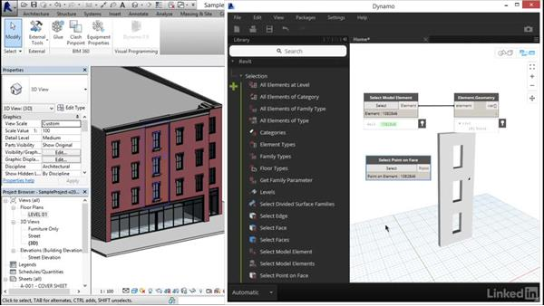 Accessing Revit geometry and data: Dynamo Essential Training