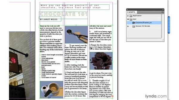 7. Columns2Frames: InDesign CS4: 10 Free Must-Have Scripts