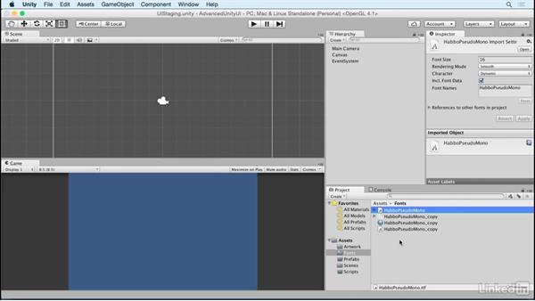 Create a font texture: Unity 5 2D: Advanced UI