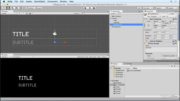 Create label templates: Unity 5 2D: Advanced UI