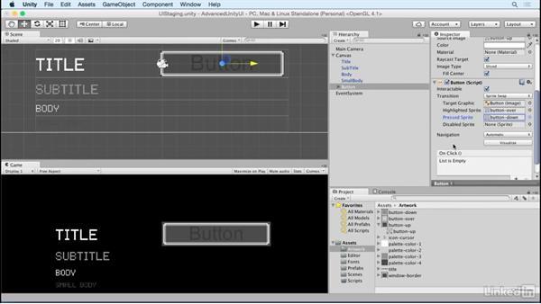 Create a button prefab: Unity 5 2D: Advanced UI