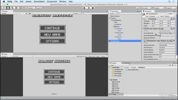 Build a window class: Unity 5 2D: Advanced UI