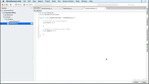 Create a game over screen: Unity 5 2D: Advanced UI