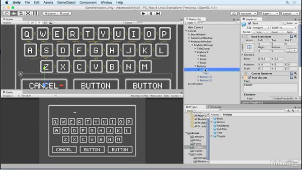 Add keyboard window buttons: Unity 5 2D: Advanced UI