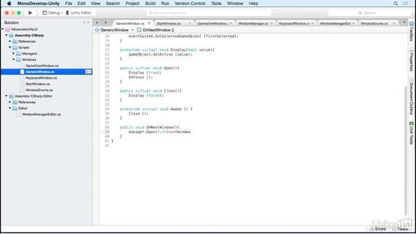 Standardize window navigation: Unity 5 2D: Advanced UI