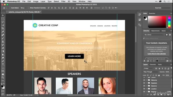 How to use a Photoshop comp in your workflow: Building a Single-Page Website in Muse