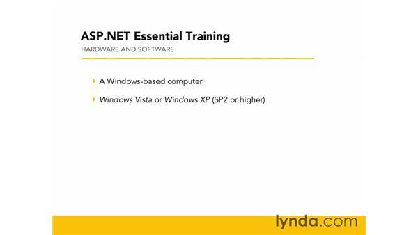 Prerequisites: ASP.NET Essential Training
