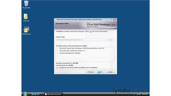 Installing Microsoft Visual Web Developer 2008: ASP.NET Essential Training