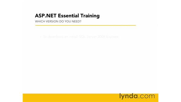 Understanding Microsoft SQL Server: ASP.NET Essential Training