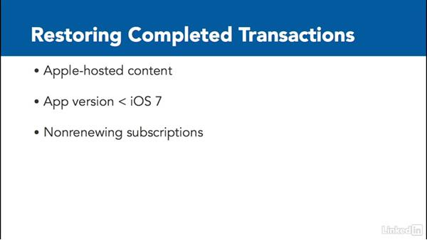 Overview: Restoring purchased content: Implementing In-App Purchases in iOS with Swift