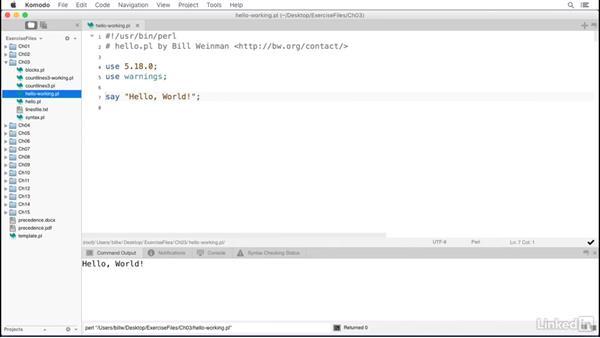 Anatomy of a Perl script: Perl 5 Essential Training