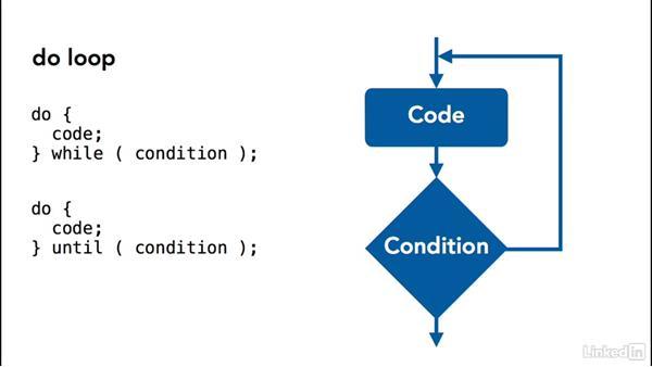 Understanding loops: Perl 5 Essential Training