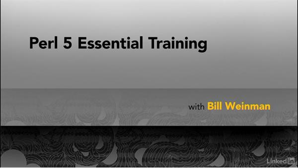 Next steps: Perl 5 Essential Training