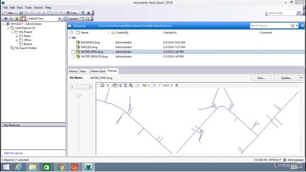 DWG external references in Vault: Learn Vault: The Basics