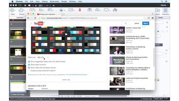 Embedding external videos: Captivate 9 Essential Training