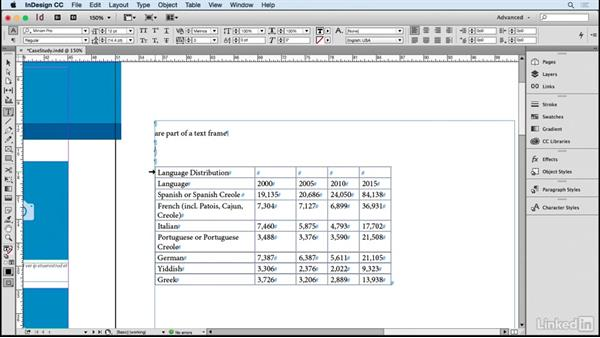 Create InDesign tables from Excel: Managing Conversions Between Adobe CC and Microsoft Office