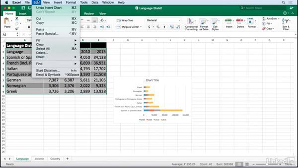 Import Excel Data Into Illustrator Charts