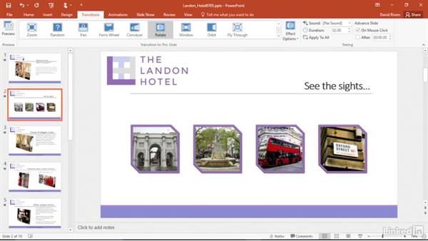 Coordinate transitions: PowerPoint 2016 Power Shortcuts