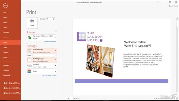 Print files economically: PowerPoint 2016 Power Shortcuts