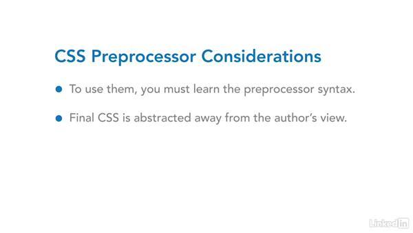 CSS preprocessors: CSS Fundamentals