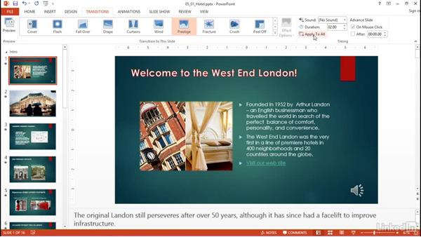 Apply transitions between slides: PowerPoint 2013: Prepare for the Microsoft Office Specialist Certification Exam (77-422)