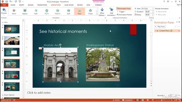 Animate slide content: PowerPoint 2013: Prepare for the Microsoft Office Specialist Certification Exam (77-422)