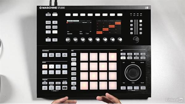 Creating and recording an initial melody: Using KOMPLETE Sounds in MASCHINE