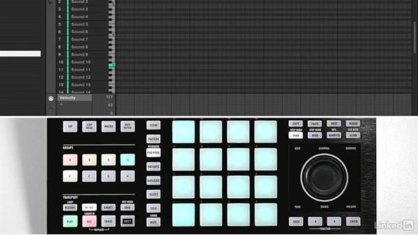 Choosing drum sounds and creating a drum pattern: Using KOMPLETE Sounds in MASCHINE