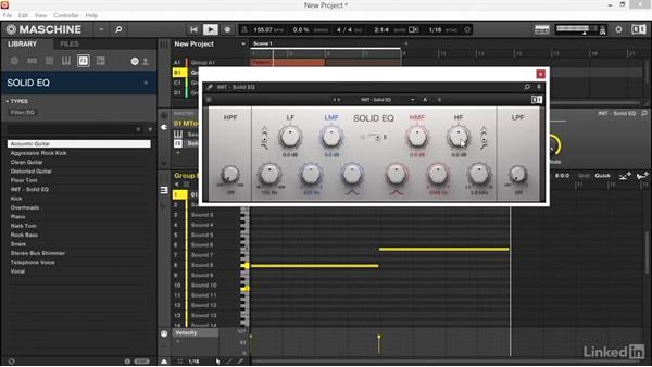 Adding variation to the melodic parts using KOMPLETE FX: Using KOMPLETE Sounds in MASCHINE