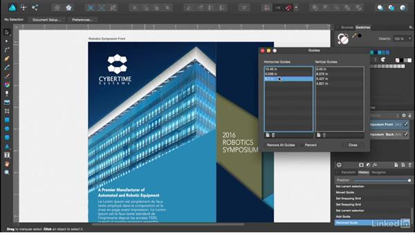 Setting up guides and grids: Affinity Designer Essential Training