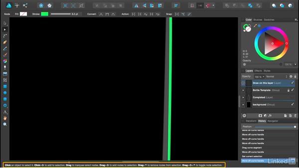 Manipulating and editing nodes: Affinity Designer Essential Training