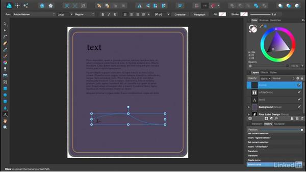 Creating and editing text: Affinity Designer Essential Training