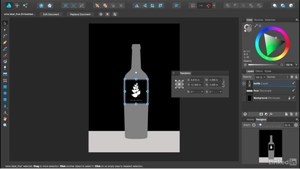 Using the Transform palette: Affinity Designer Essential Training