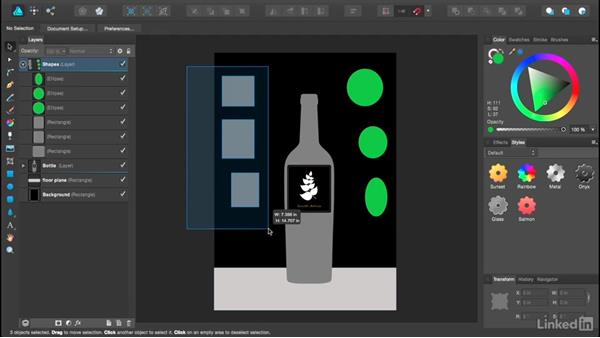 Using layers and groups for object management: Affinity Designer Essential Training
