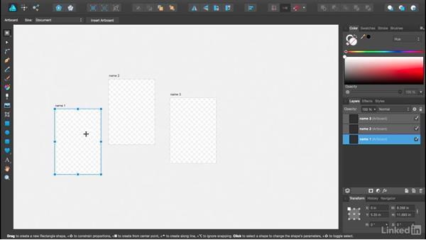 Using artboards: Affinity Designer Essential Training