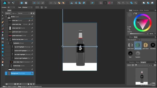 Creating gradients: Affinity Designer Essential Training